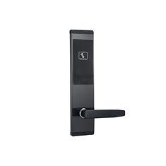 Zinc Alloy Black Hotel Key Card Door Locks With Ansi Mortise Mf1 Card Type Hotel Key Cards Door Locks Zinc Alloy
