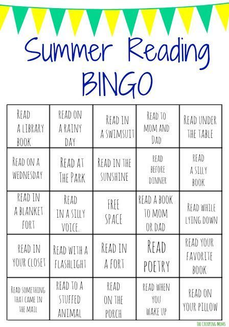Summer Reading Bingo Challenge For Kids Free Printables With