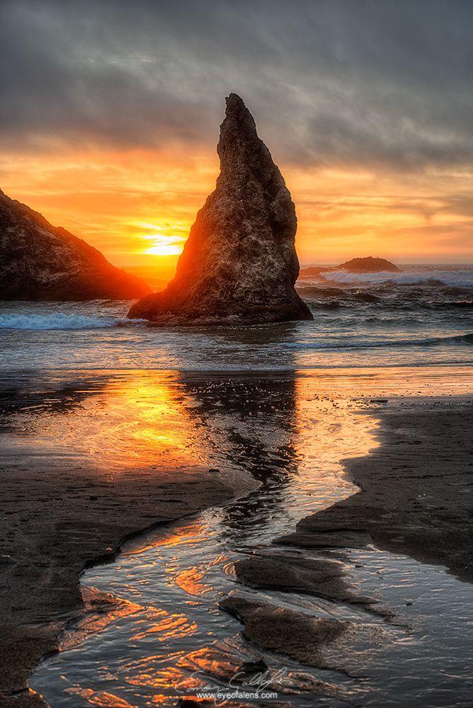 Wizards Path sunset Bandon Beach Oregon