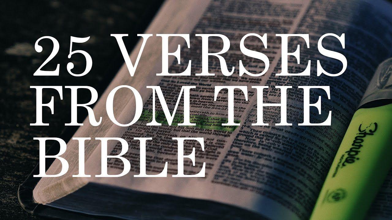 ✝ 25 Famous Bible Verses