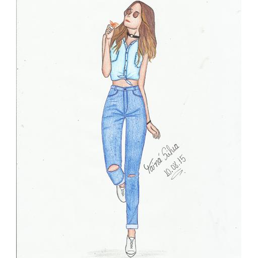 Ilustrei o look da linda Victória Rocha ❤ Desde 2013 acompanho o Blog Todo Estilo e tenho muito orgulho de Fortaleza ☀️ ser representada por você   Espero que goste ❤