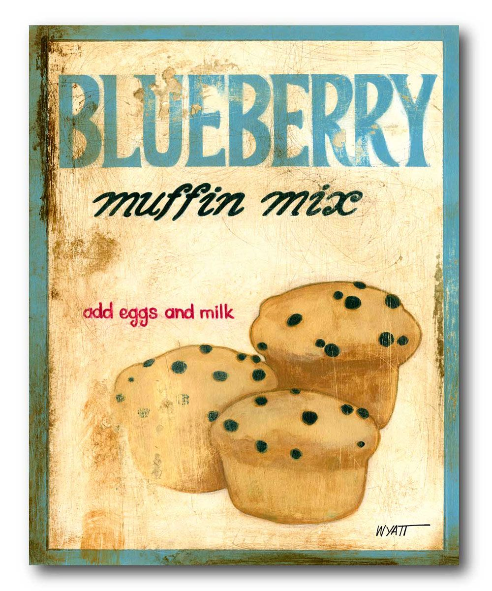 Blueberry Muffin Mix Vintage Wall Art | my kitchen | Pinterest ...