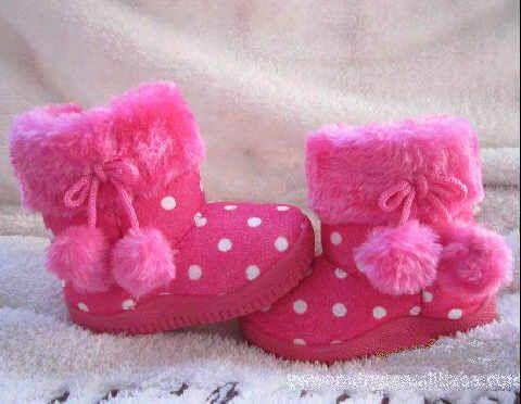 Sepatu Boots Anak Kids Winter Boots Hot Pink Polka Usia 1 3