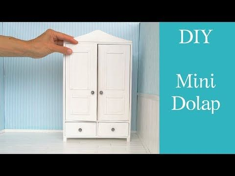 Mini Dolap yapımı / DIY Barbie dolap /Szafa dla Barbie-jak zrobić/Dollhouse Wardrobe /Doll furniture - YouTube #barbiefurniture