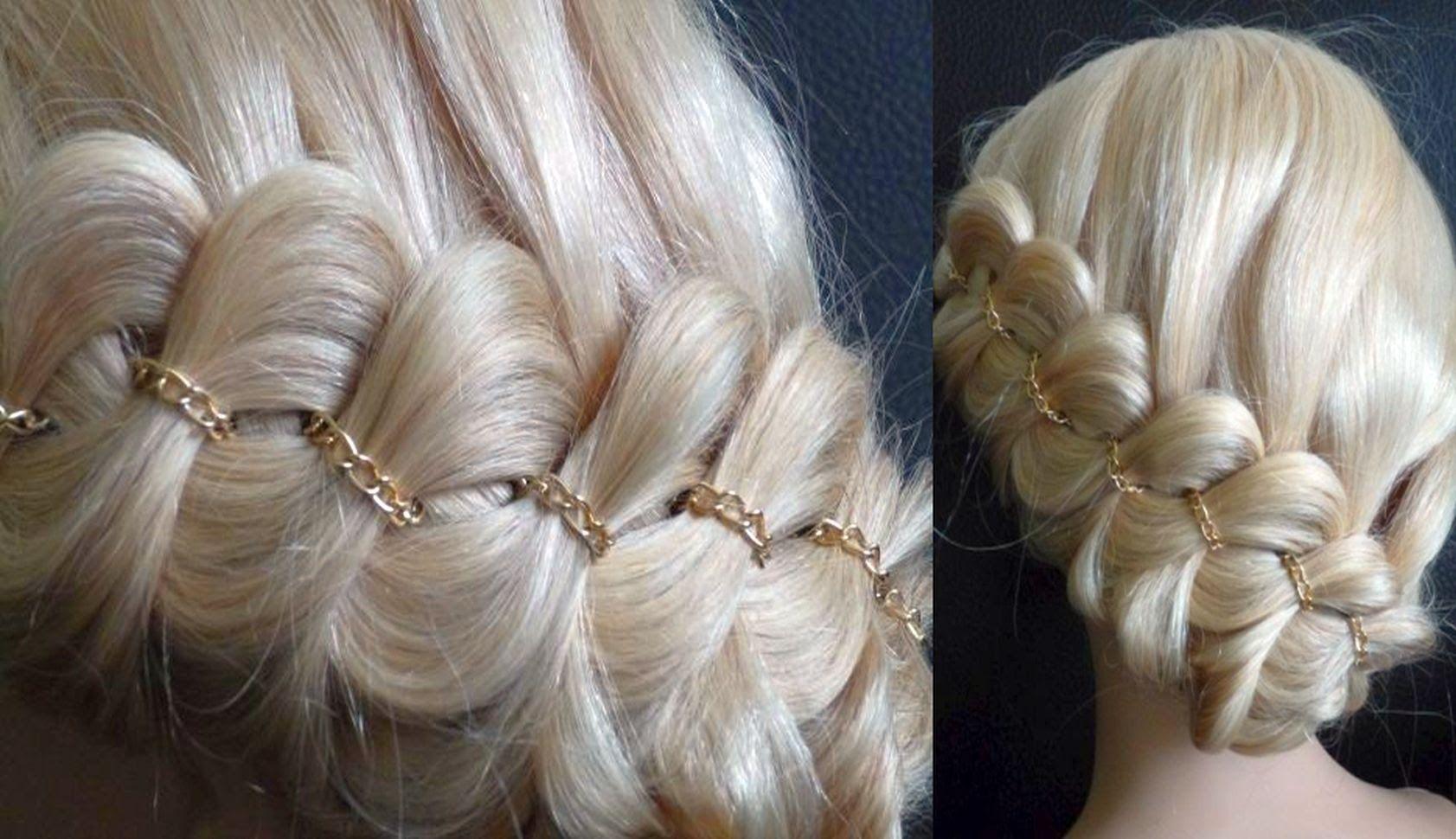 Haarezopf An Der Kopfhaut Flechten Schöne Festliche Frisur