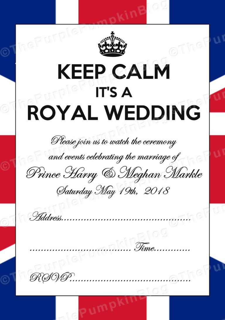 Post Royal Wedding Printables Free British Royal Party Printables