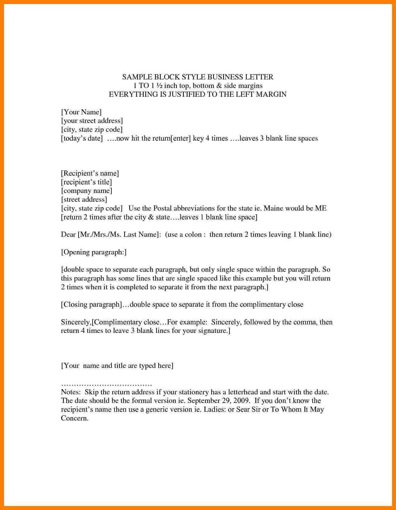 Business Letter Format Business letter format, Business