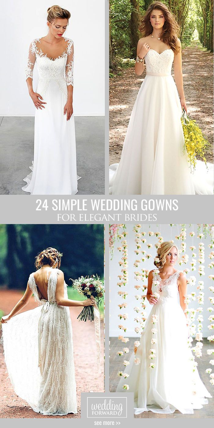 30 Simple Wedding Dresses For Elegant Brides Simple Elegant Wedding Dress Simple Wedding Gowns Wedding Dresses Simple [ 1400 x 700 Pixel ]