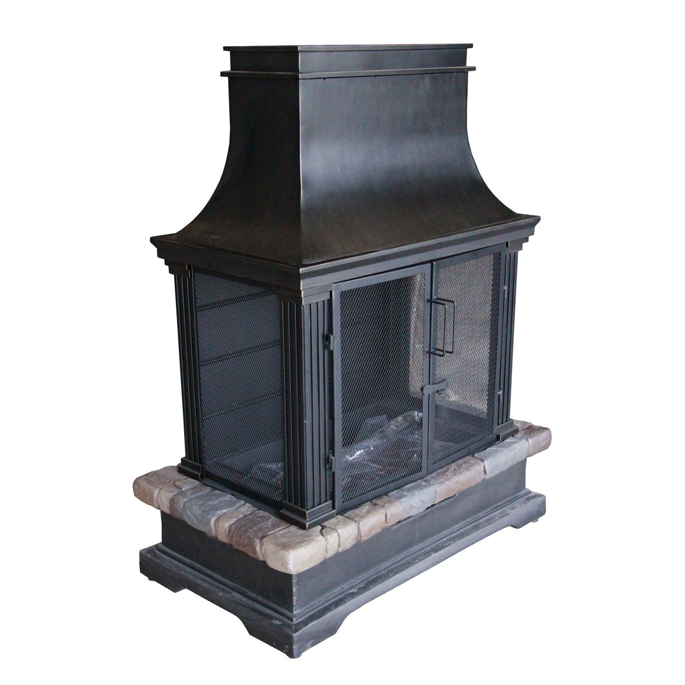 bond 66594 sevilla wood burning outdoor fireplace atg stores