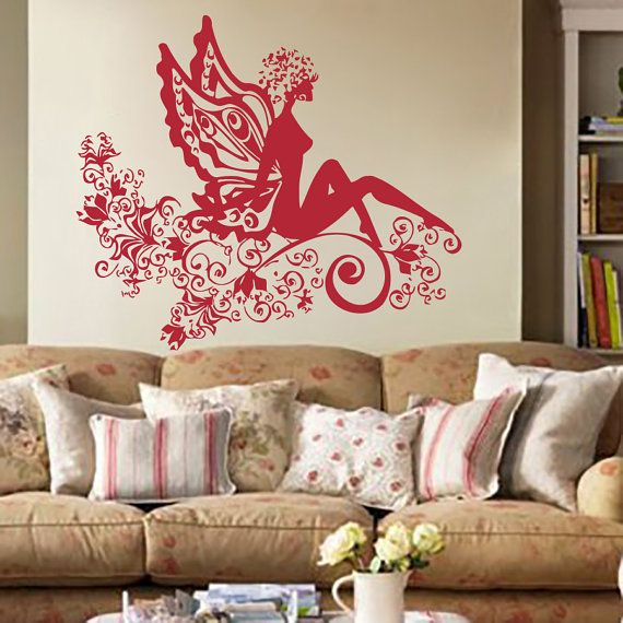 Wall Decals Beauty Salon Decor Girl Hair Sticker Hairdressing Decal ...