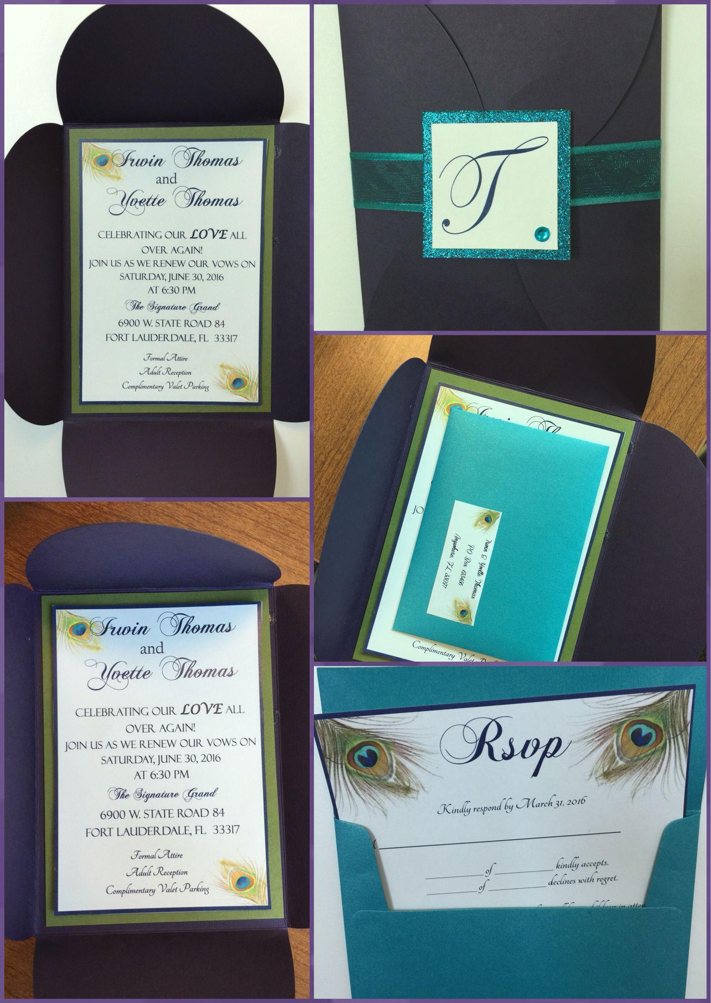 Peacock Wedding Invites Invites Pinterest Peacock Wedding And