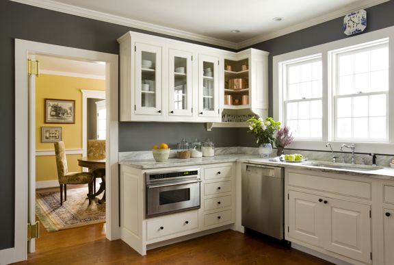 Best Of Kitchen with Yellow Walls and Gray Cabinets
