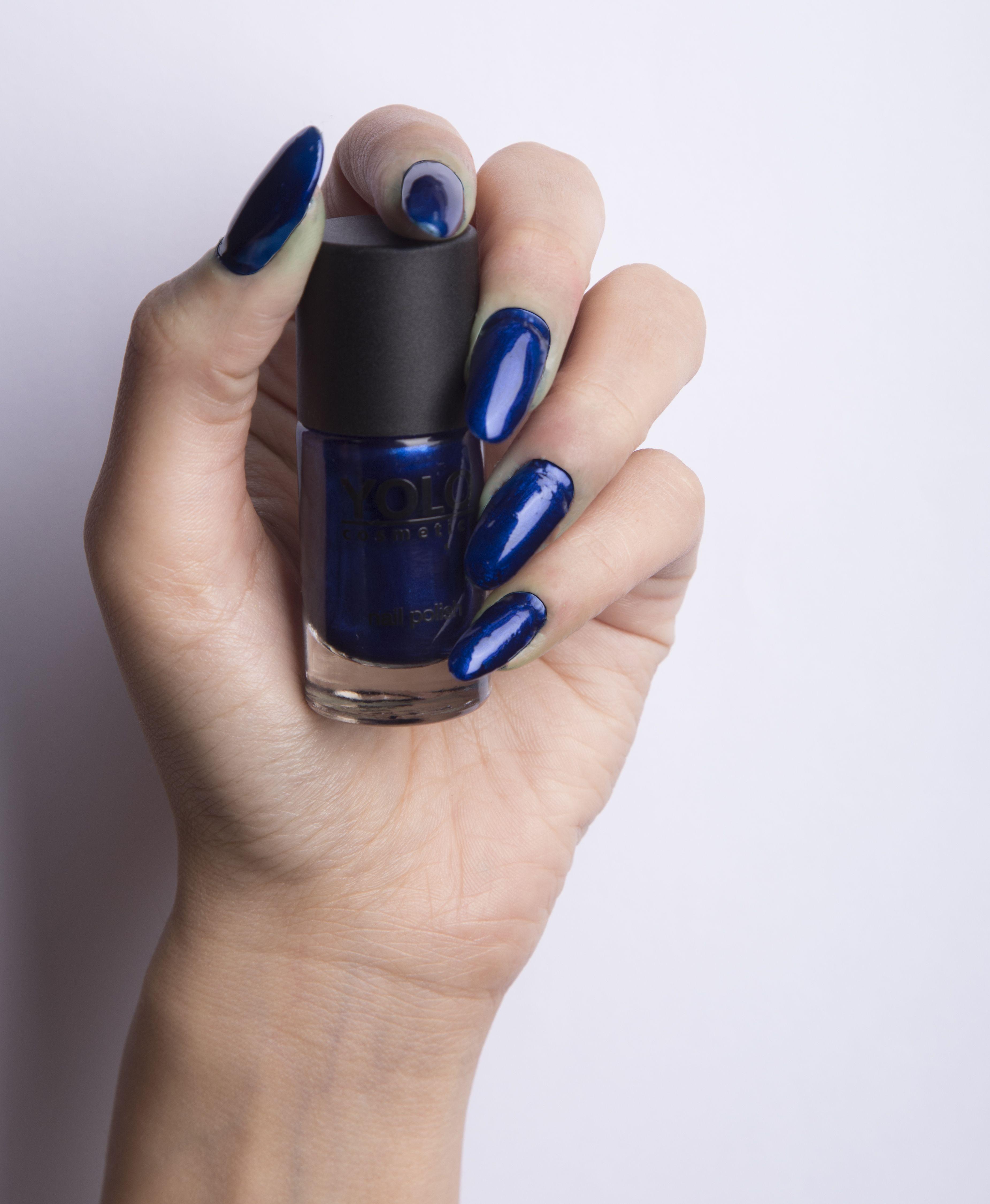 152 MIDNIGHT YOLO nails summer photo galaxy colors