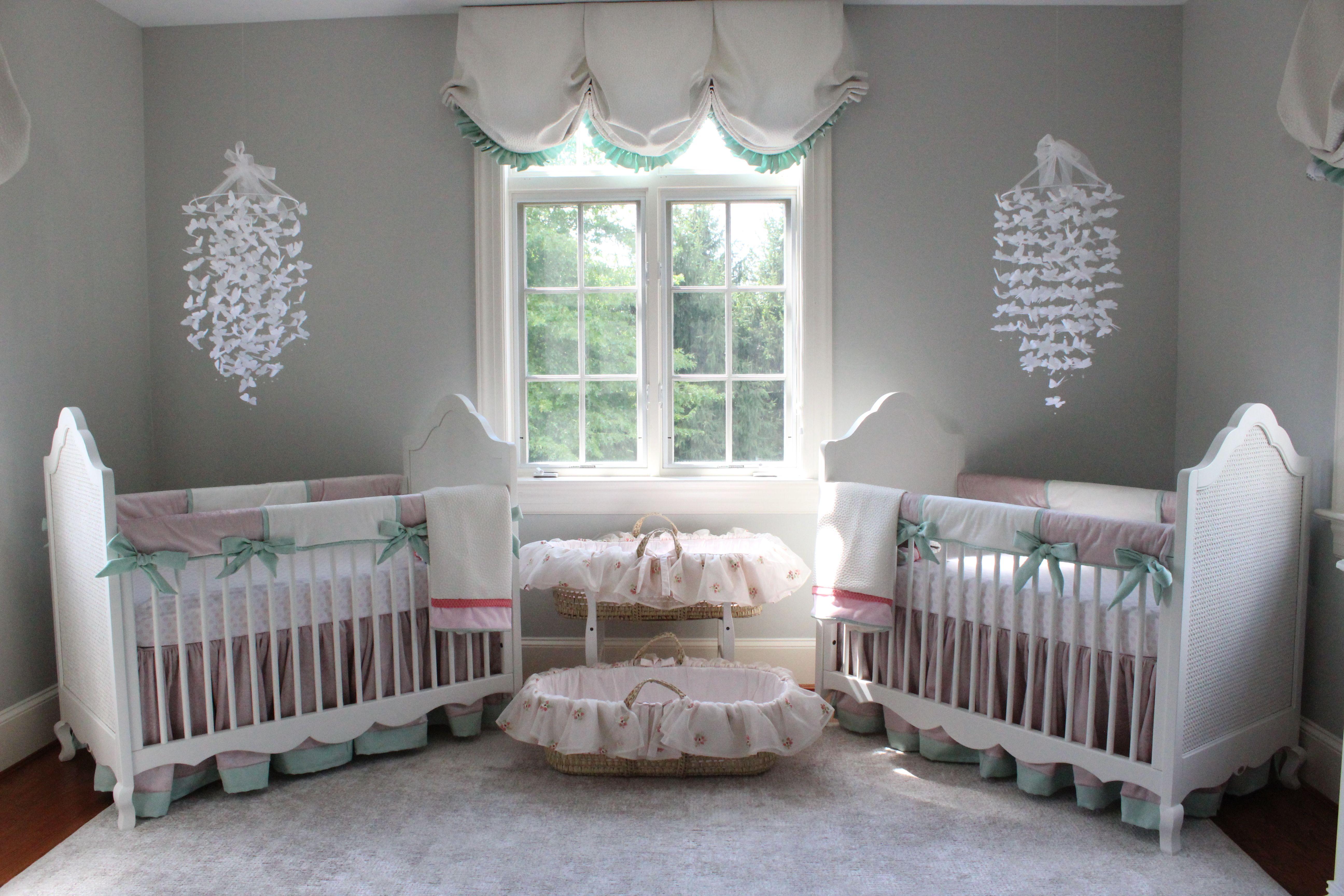 Katz Twin Nursery Reveal Twin Baby Rooms Girl Nursery Room