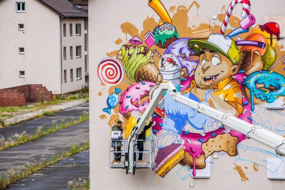Künstler Mannheim graffiti künstler wie herakut satone bezt sainer akse stohead