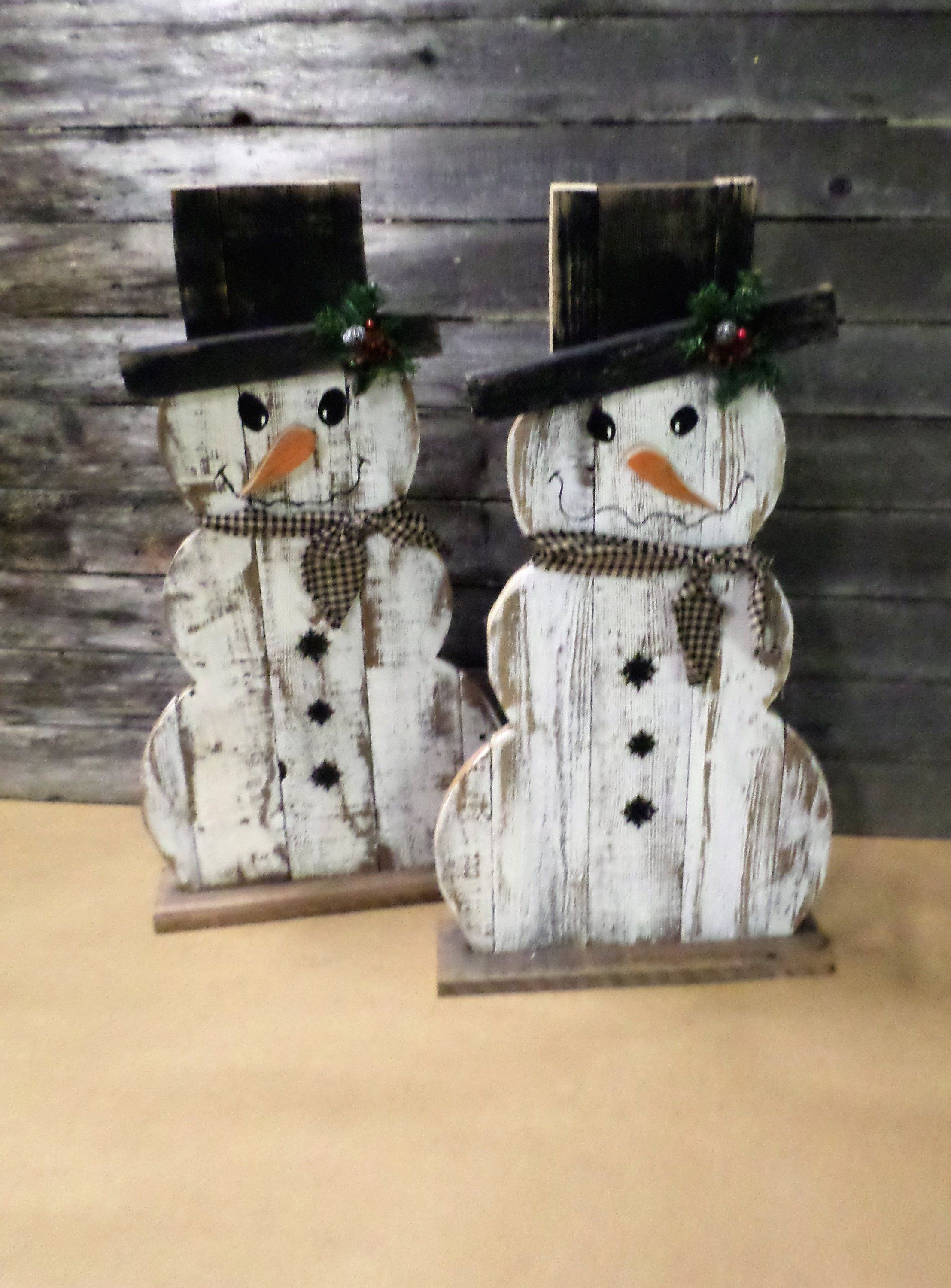 7 9 Business Day Wait Before Shipping Rustic Farmhouse Etsy Christmas Wood Crafts Wood Snowman Rustic Holiday Decor