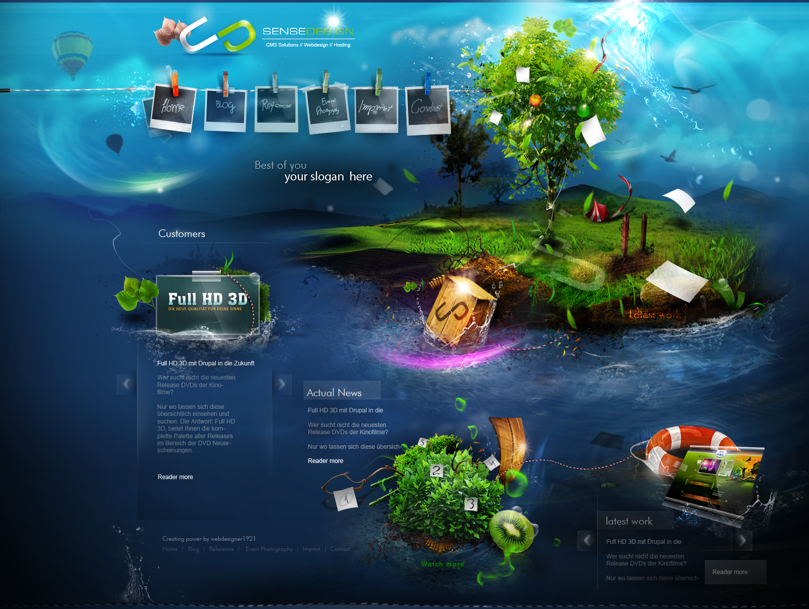 Cut The Traditional Web Designs   The Design Work. Amazing WebsitesCool ...