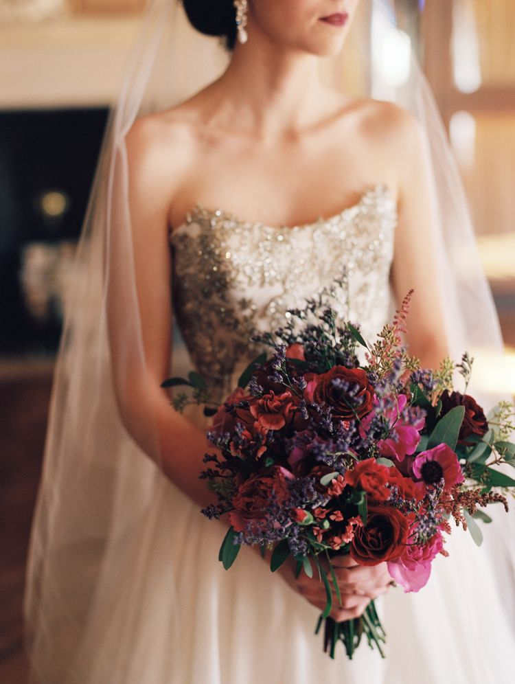 Deep Red and Pink Bouquet | Pink bouquet, Wedding and Purple wedding ...
