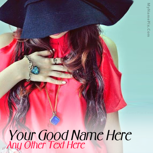 Write your name on Stylish Cap Girl picture in beautiful style  Best