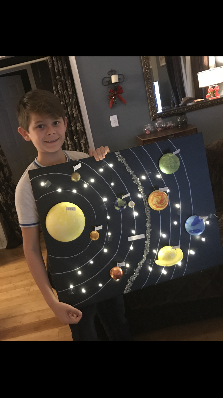 Sistema solar planetario Modelo Ciencia astronomía construir Pintura Artesanía Regalo Juguete