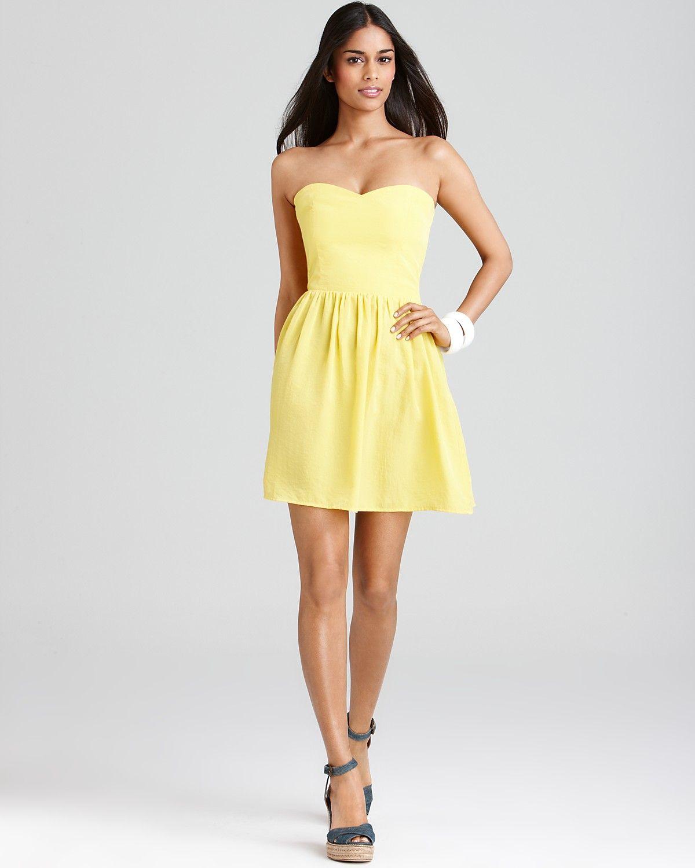 Yellow strapless dress my style pinterest strapless dress