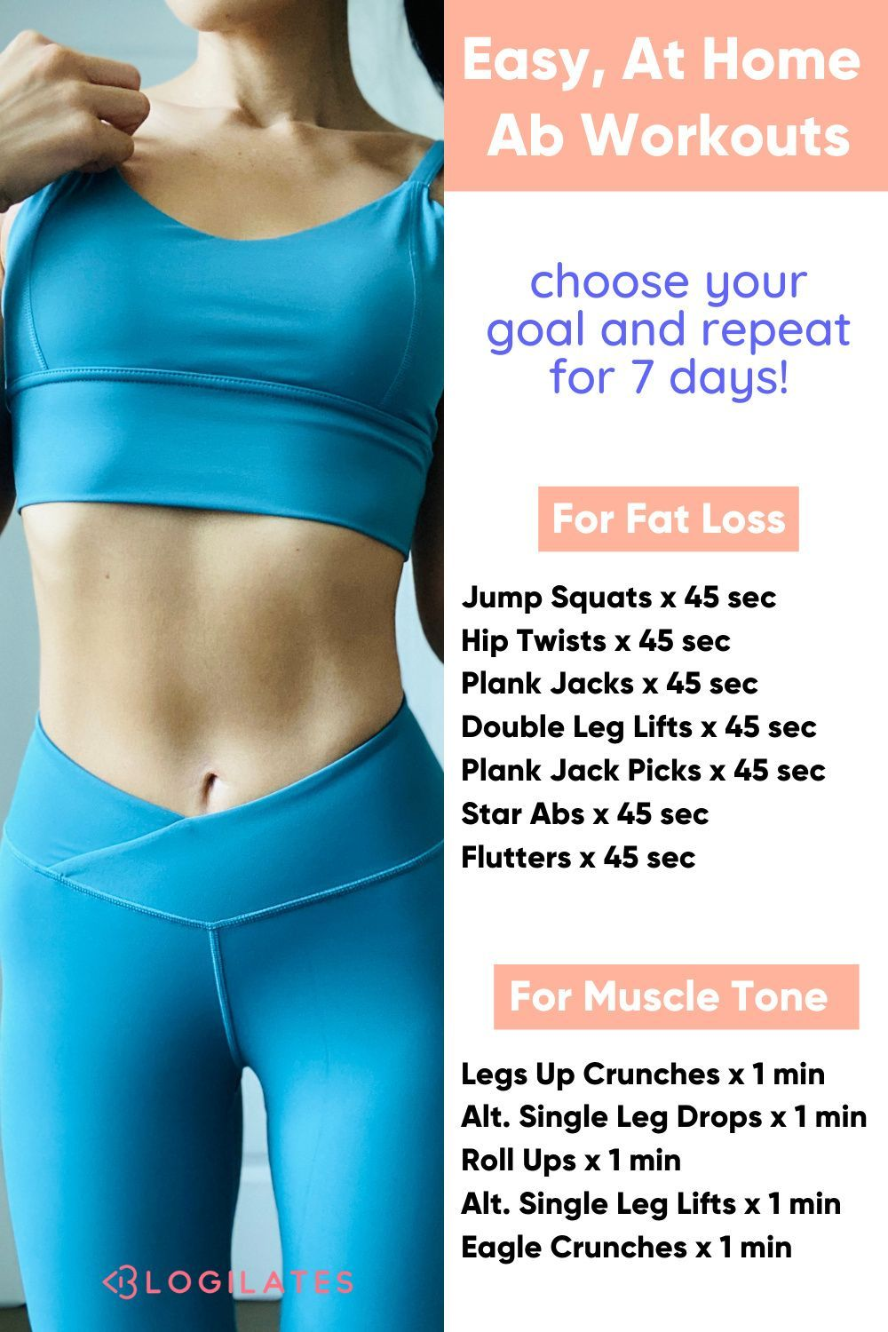 Easy At Home Ab Workout for Flat Abs! The 7 Day Ab Challenge (+ May Workout Calendar) – Blogilates -   19 workouts for flat stomach for beginners ideas