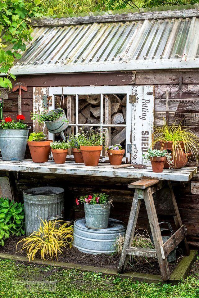 27 Creative Potting Bench Ideas to Make Gardening More Fun potting