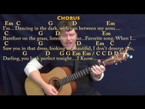 Perfect (Ed Sheeran) Strum Guitar Cover Lesson in G with Chords ...