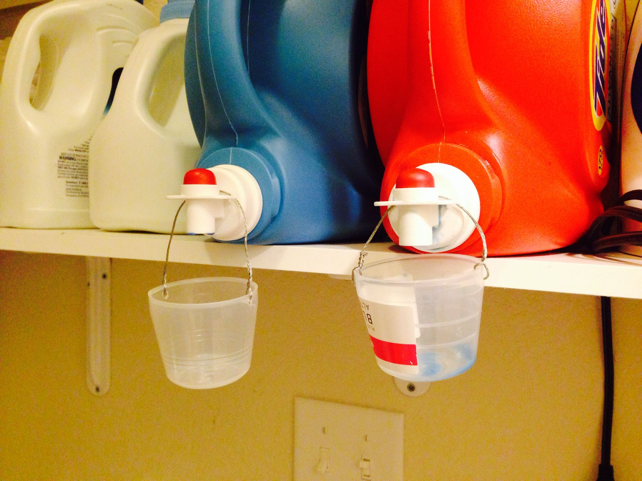 Drip Catcher And Storage For Detergent Cups Home