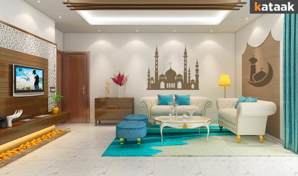 Blue Majestic Living Room Design. Design Now On Kataak.