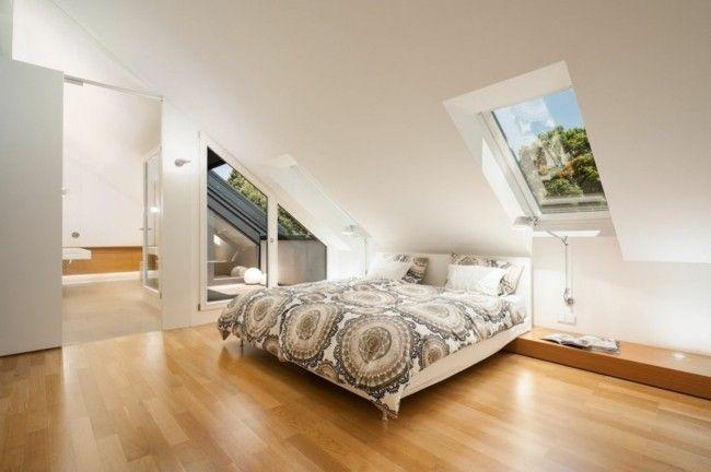 modernes schlafzimmer dachschräge modern gestalten Schlafzimmer - schlafzimmer ideen modern