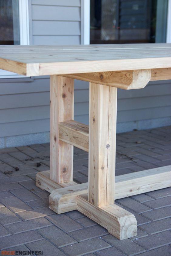 H Leg Dining Table Diy Farmhouse Table Dining Table Legs