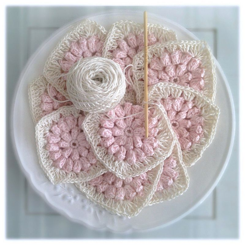 Flower Granny Square Patterns | popcorn flower and then turned it ...