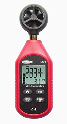 Wind Speed Gauges - RockyMars RA30 Mini Anemometer Wind Speed Gauge  Thermometer Used in Hiking Sailing Drone Pilot Ventilation System etc >>> Learn more by visiting the image link. (This is an Amazon affiliate link)
