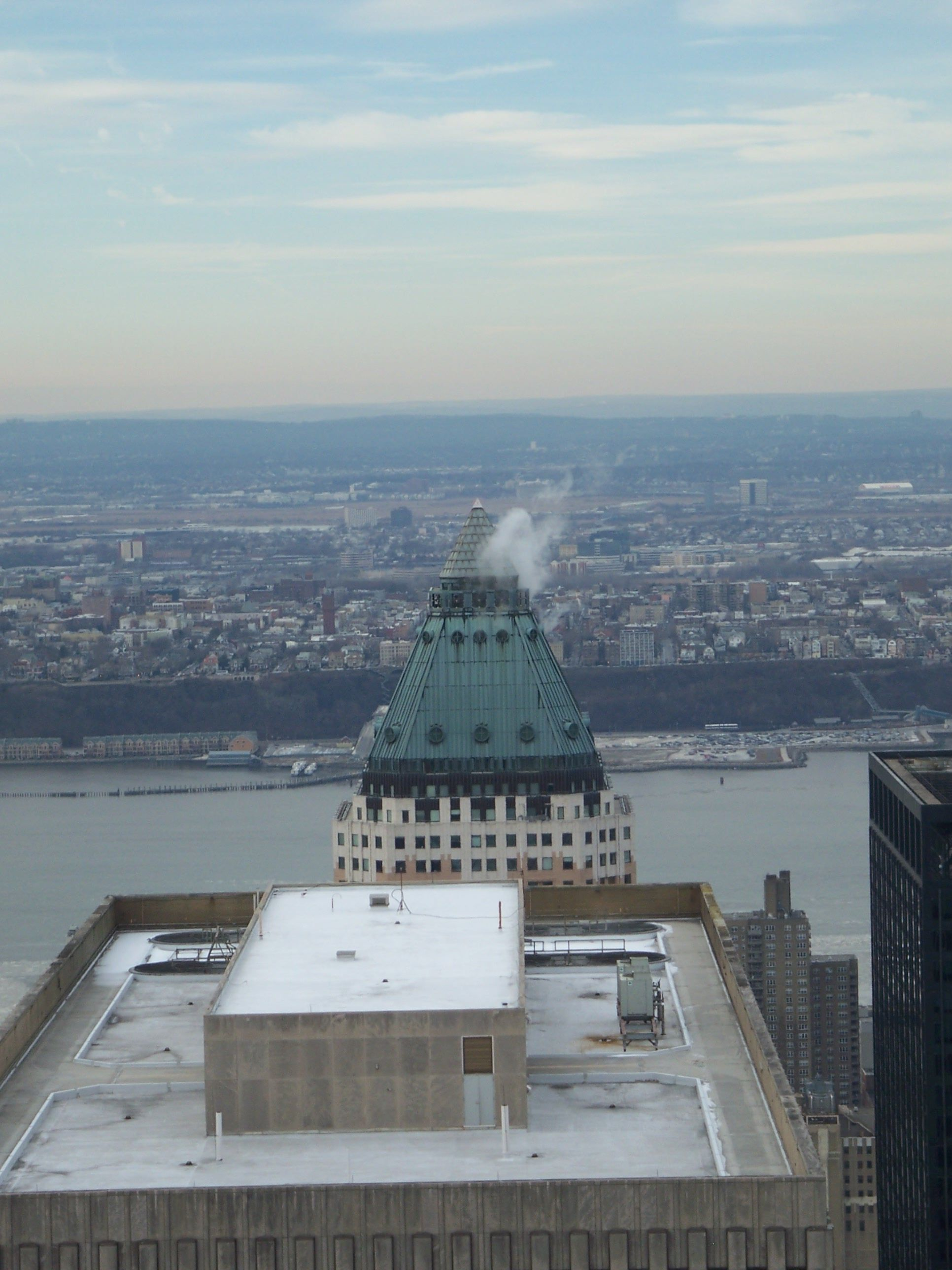 View of NYC from the Observation Deck on Top of the Rock.