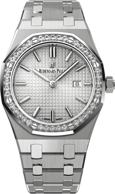 """ONE MORE GIFT IDEA FOR HER!  Audemars Piguet Royal Oak Ladies   This timepiece is a reflection of AP's """"Spirit of Independence"""" philosophy. A must-have for a confident and successful lady.   Wide range of Audemars Piguet watches available.    #ShivasGoldandGems #AudemarsPiguet #AP #luxury #deluxe #horology #Horlogerie #watches #finewatches #forher #paraella #Relojes #montres #pourelle #Christmasgiftidea #giftidea"""