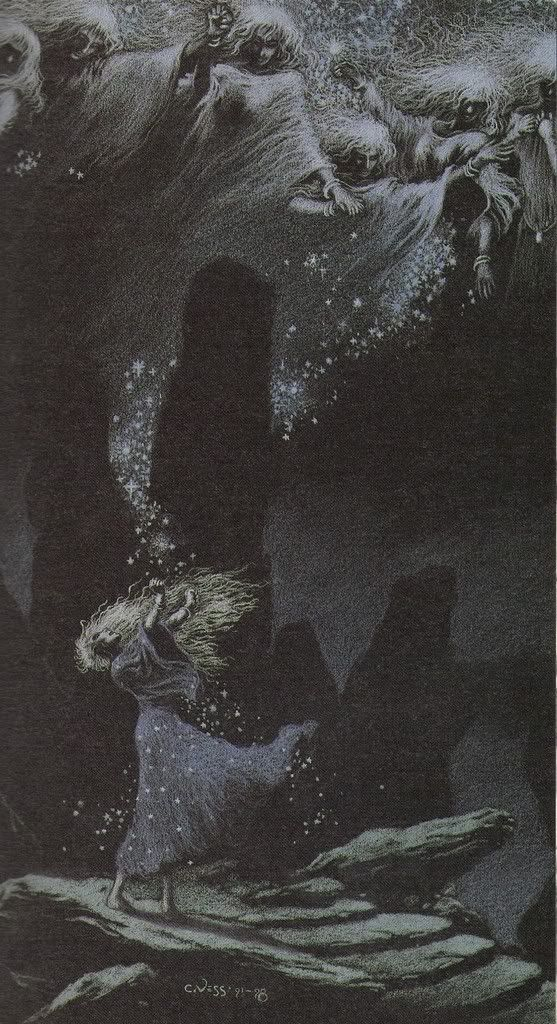 """Slow Dance of the Infinite Stars"" by Charles Vess, from Neil Gaiman's ""Stardust"":"