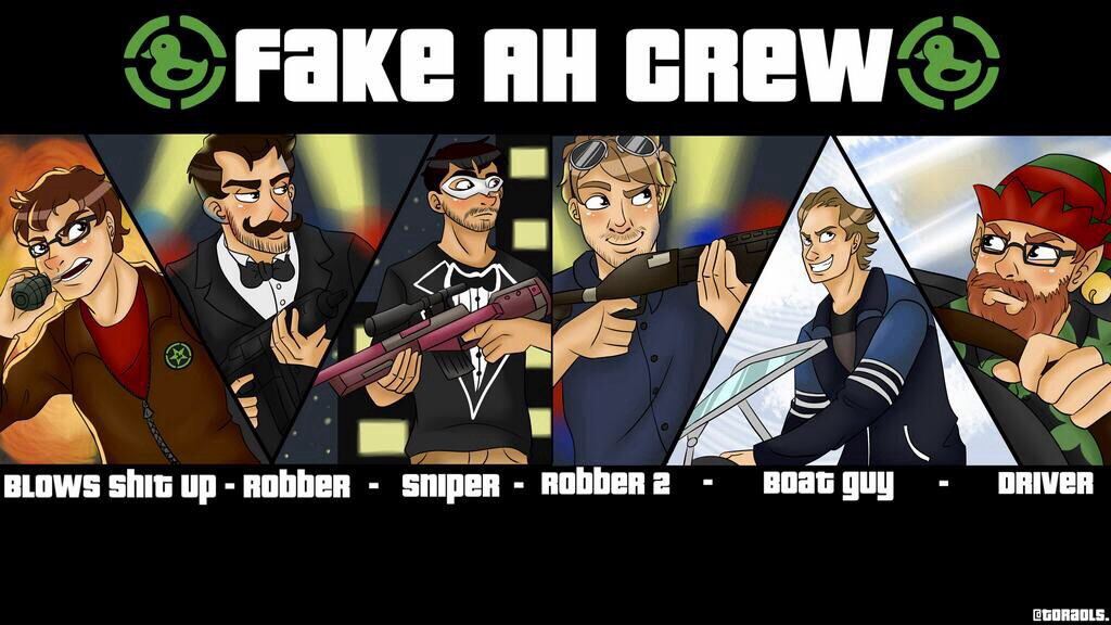 Fake AH Crew Achievement Hunter Comic Poster