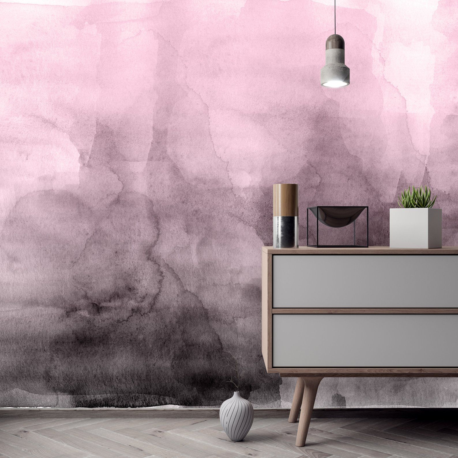 Pink Quartz Ombre Wallpaper Luxury Removable Peel And Stick Self Adhesive Temporary Wall Mural Fabric Sku Wtcpkqtz Ombre Wallpapers Wall Murals Temporary Decorating