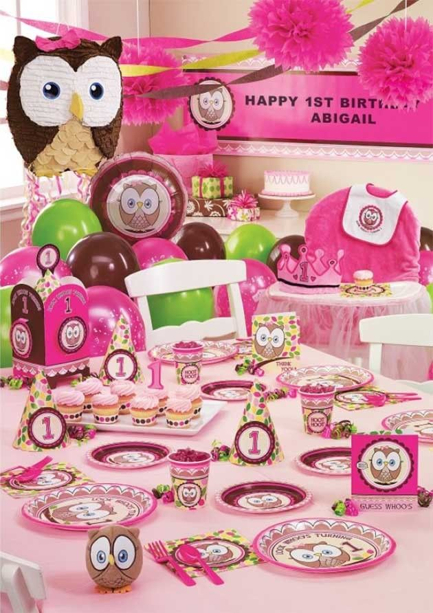 Owl Birthday Party Supplies Owl Themed Party Ideas Pinterest