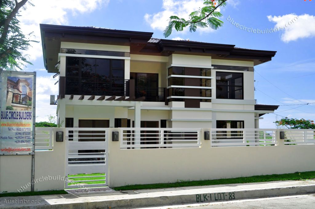Modern fence design philippines fence pinterest for Minimalist house fence