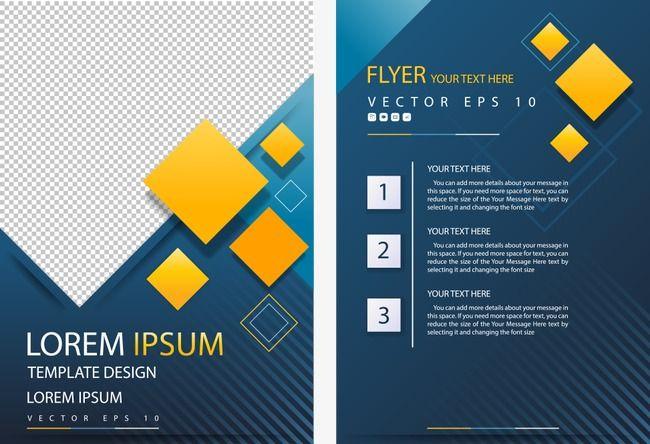 ناقلات الماس الأصفر فلاير فلاير نشرة من صفحة واحدة تصميم فلاير Png وملف Psd للتحميل مجانا Brochure Design Template Brochure Design Template Design
