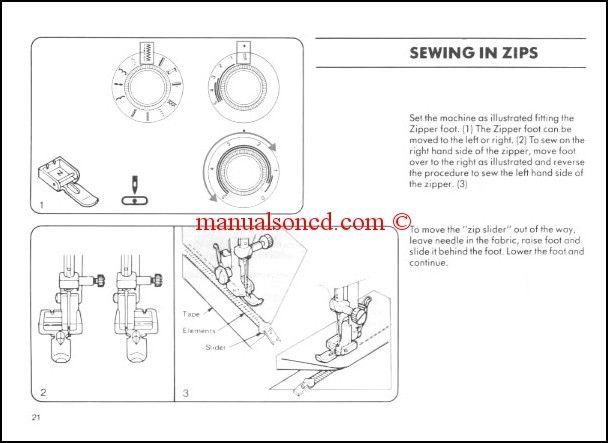 Bernina Bernette 410-420-430-440 Sewing Machine Instruction