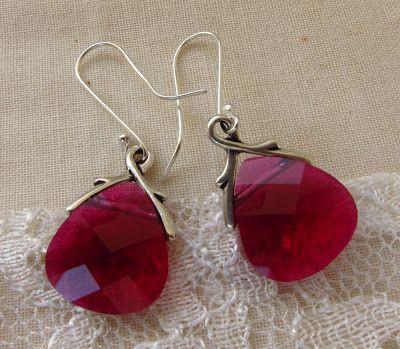 DIY: Pink Jeweled Earrings