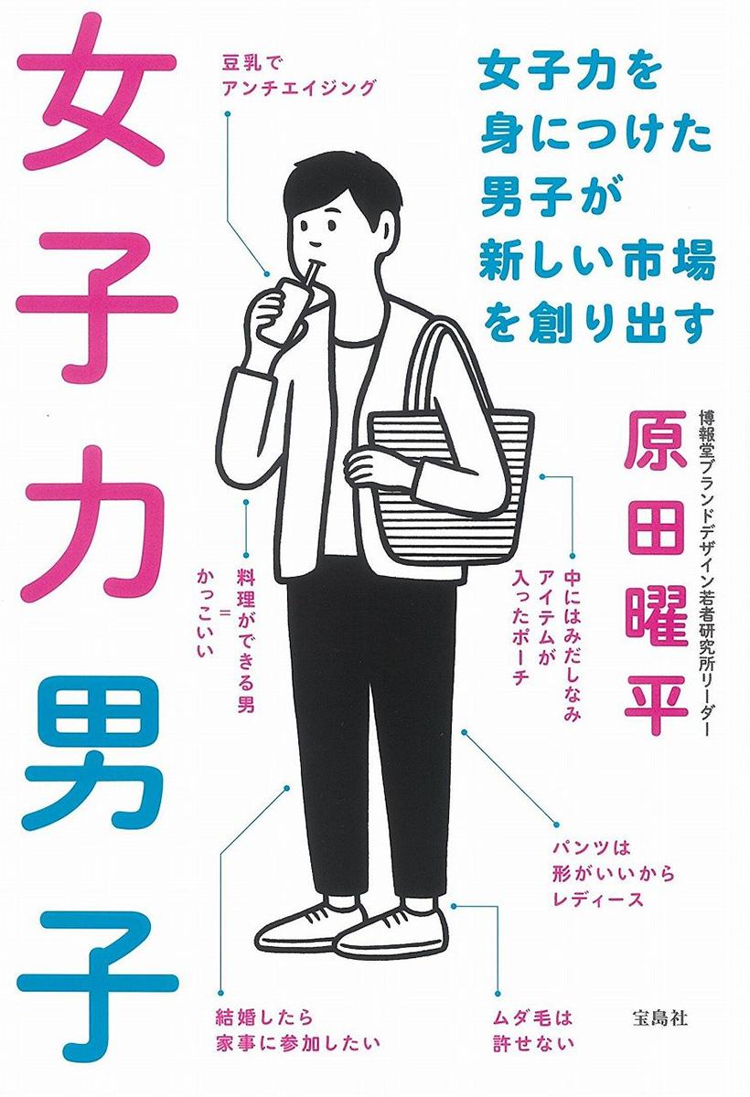 Noritake 書籍「女子力男子 ~女子力を身につけた男子が新しい市場を創り出す/原田曜平 著」(宝島社)のイラストを描かせていただきました。デザインは文平銀座さん。12月12日発売。