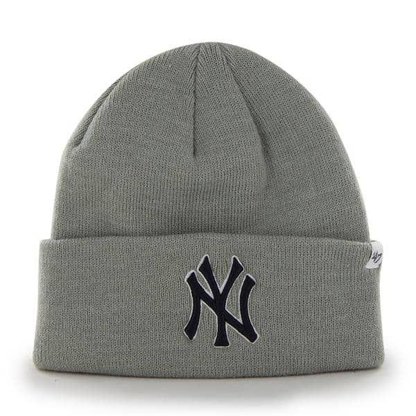 6f263558f09 New York Yankees Raised Cuff Knit Gray 47 Brand Hat
