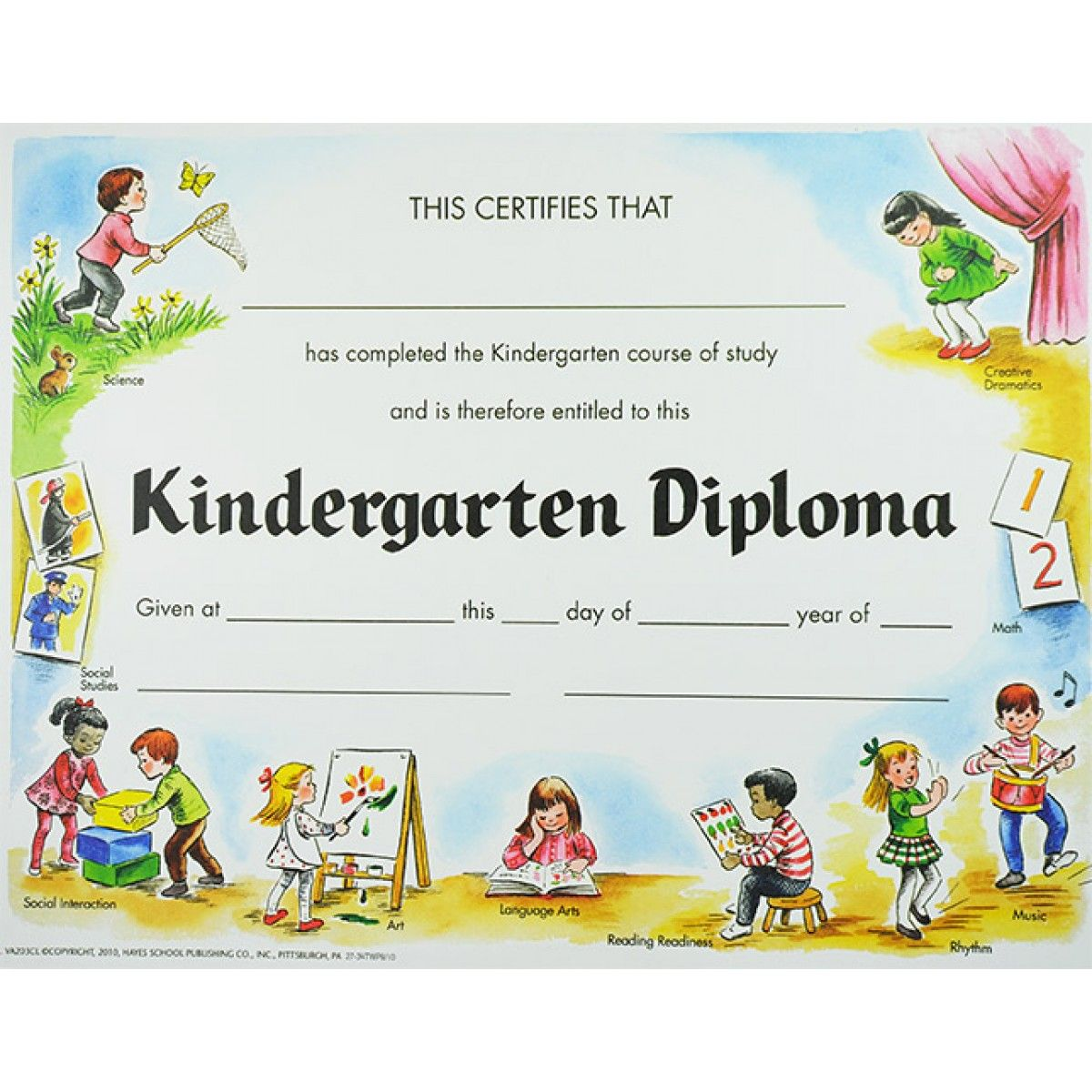 This is a photo of Terrible Kindergarten Certificate Free Printable