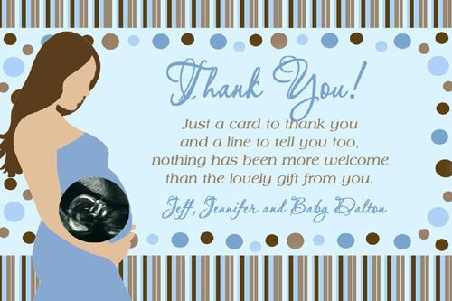 Thank You Cards for Baby Shower Party Celebrations | Baby Shower ...