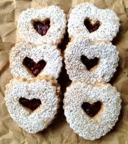Sweetheart Linzer Cookies