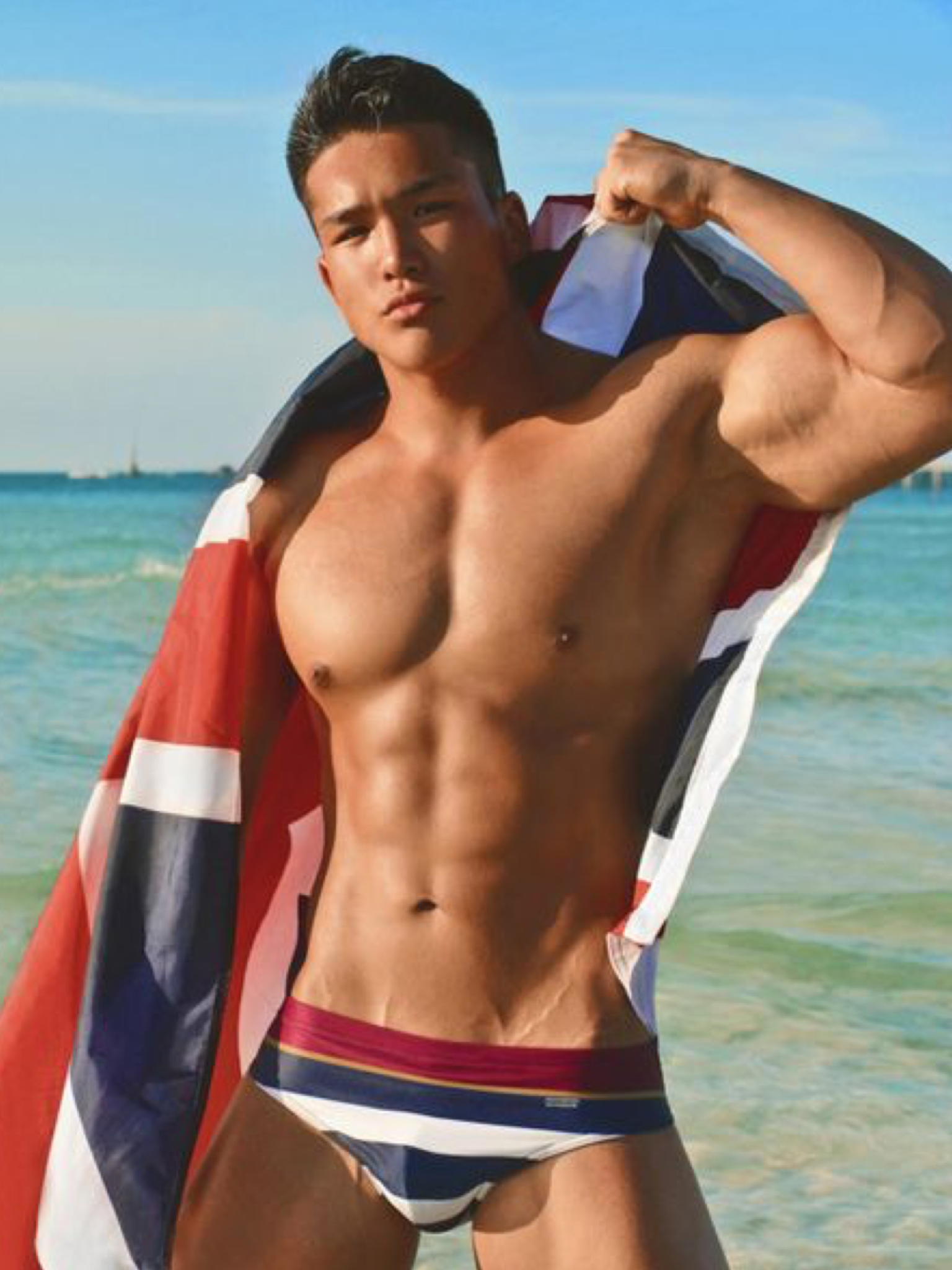 Asian male swimwear